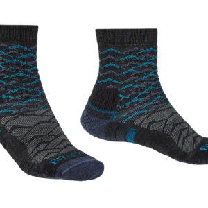 Bridgedale Hike Lightweight Merino Performance 3/4 Patterned Mens Sock