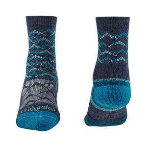 Bridgedale Hike Lightweight Merino Performance 3/4 Patterned Womens Sock