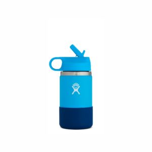 Hydro Flask Kids Hydration Wide Mouth with Straw Lid 12oz/352ml Pacific