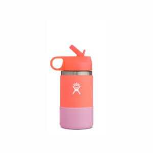 Hydro Flask Kids Hydration Wide Mouth with Staw Lid 12oz/352ml Hibiscus